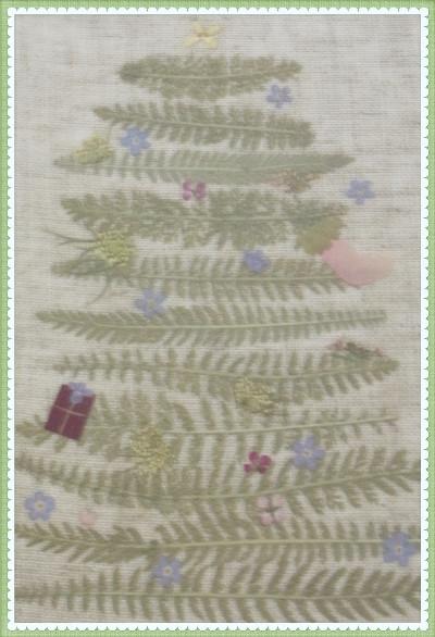 押し花のクリスマスツリー★